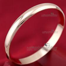 18K PLAIN ROSE GOLD GF LADY 8MM CLASSIC ROUND BAND GOLF BANGLE BRACELET GIFT NEW