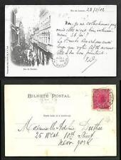 Rio de Janeiro Rua do Ouvidor Brazil stamp ca 1899
