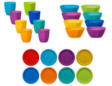 Fingey Plástico Placas Bols Vasos Multicolor Fiesta Picnic de Barbacoa (Pack 8)