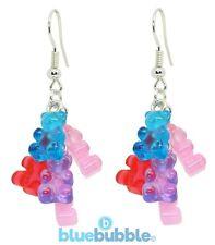 Bluebubble MY SWEET SHOP Mini Gummy Bear Cluster Earrings Sweet Novelty Kawaii