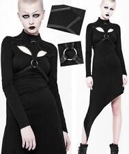 Robe asymétrique gothique punk lolita bondage harnais cuir anneaux dark Punkrave