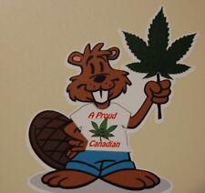 "Canada Beaver Weed Cannabis Pot sticker 3.5"" x 4"""