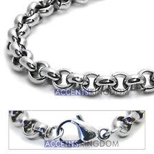 Accents Kingdom 6mm Titanium Men's Rolo Chain Necklace