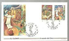 ITALIA BUSTA FILAGRANO  Circo Clown CIRCUS  ANNULLO SPECIALE UDINE 1994  FDC