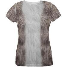 Halloween Grey Cat Costume All Over Womens T Shirt