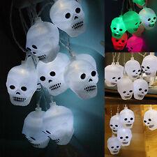 Halloween Battery Skull String Lights 2.5M 10Led Bulbs Lamp Party Funny Decors