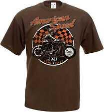 T Shirt im Braunton HD V Twin Biker Chopper-&Old Schoolmotiv Modell American