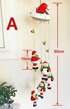 Christmas Santa Claus Snowman Porcelain Wind Chime Bell Hand Glazed HangingDecor
