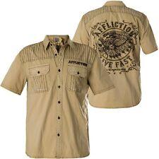 AFFLICTION Hemd Articulate Beige Hemden