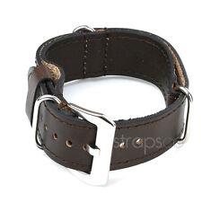 StrapsCo Military Vintage Brown Leather Watch Strap Wrap Around Band
