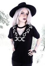 RESTYLE GOTHIC Camiseta Top nugoth Símbolo BRUJA LUNA MOON Witchy oculta Choker