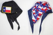 skull cap hat do du doo rag Texas Lone Star flag sweat band USA made