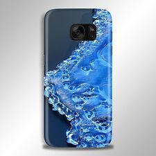 Agua de Cristal de Vidrio Congelado teléfono caso para IPhone HTC Samsung Sony LG Huawei