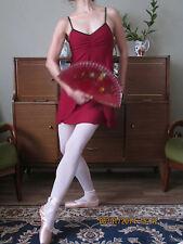 Professional adult lady girl split front lyric ballet dance dress leotard - New