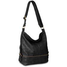 CASPAR TS732 Women Shoulder Cross Body Messenger Bag Zip Adjustable Strap NEW