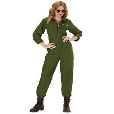 S8887 KAMPFJET PILOTIN Damen Kostüm - Top Gun Jet Pilotin Verkleidung Gr. S - XL