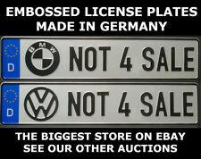 Not 4 Sale BMW VW Audi Mercedes Benz German Germany Euro European License Plate