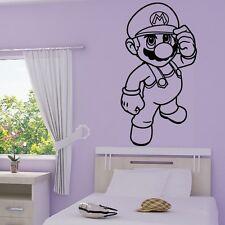 Stickers Mural Super Mario Bros Debout - Choix Couleur et Taille