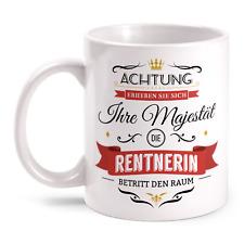 Majestät Rentnerin Tasse Spruch Geschenk Idee Kollegin Rente Ruhestand Lustig