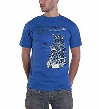 Oficial Doctor Who Dalek Adulto Haynes Manual crítico Camisetas Azul