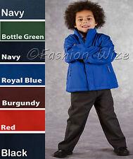 Boys Fleece Reversible Jacket Winter Warm Coat School Navy Red Blue Maroon Green