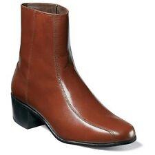 Mens Florsheim Duke boot Leather zipper High Cuban Heel 17087-03  Cognac SALE