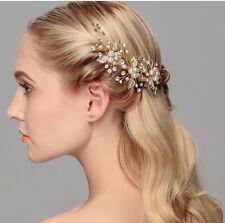 NEU Haarnadeln Haarschmuck Braut Hochtzeit Blumen Blätte Strass Perle