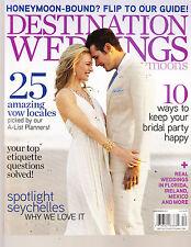 DESTINATION WEDDINGS & HONEY MOONS, DECEMBER, 2011  (WHERE TO HONEYMOON IN 2012