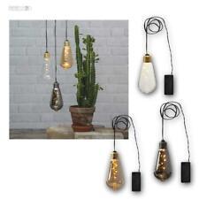 """Deko-Licht Glas Glühbirne """"Glow"""", 5 LED warmweiß, Lichterkette Batteriebetrieb"""
