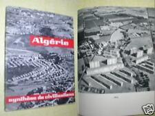 ALGERIE SYNTHESE DE CIVILISATION - 1961