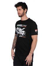 2017 Official DUCATI CORSE NEGRO FOTO Camiseta - 17 36007