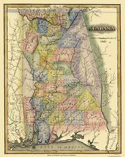 Old State Map - Alabama - Lucas 1823 - 23 x 28.94