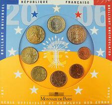SERIE  FLEUR  DE  COIN  EURO  2006  , 8  MONNAIES  ,   BU  ,  RARE
