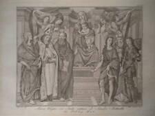 Maria Vergine Santi Botticelli acquaforte originale