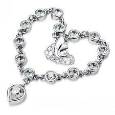 Crystal Diamonds & Cuore Ciondolo Bracciale