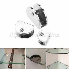 Zinc Alloy Glass Shelf Brackets DIY Bookcases Shelving Storage Clamp Bracket 1x