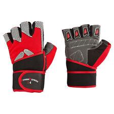 Trainingshandschuhe m. Bandage S-XXL Fitnesshandschuhe schwarz/rot gestreift