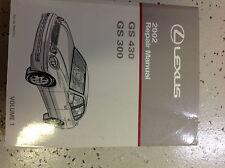 2002 LEXUS GS430 GS300 Service Shop Repair Manual VOLUME 1 ONLY FACTORY