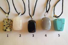 CIONDOLI IN PIETRA NATURALE + CORDINO - Natural stone pendants
