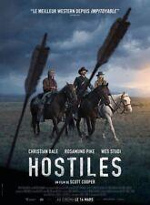 HOSTILES Affiche Cinéma Originale Pliée Movie Poster Christian Bale