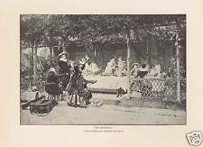 A WEDDING BETROTHAL - Leloir 1880 Antique Art Print
