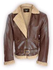 40er/50er Flieger Lederjacke B3 Rockabilly Jacke Anilin Leder Fur Flightjacket