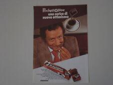 advertising Pubblicità 1976 FERRERO POCKET COFFEE