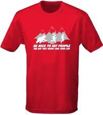 Ser amable con gente gorda grosero Hombre Camiseta 10 Colores (S-3XL) por swagwear
