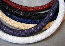 Stardust Wickel Armband Kette mit Swarovski Kristallen Edelstahl Magnetverschluß