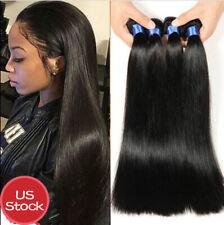 9A USA STOCK Extensiones de Cabello Humano Peruano Virgen Straight Hair 100G Per