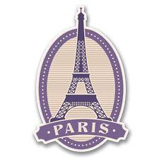 2 X París Torre Eiffel Pegatina de vinilo Laptop Viaje Equipaje Coche #6396