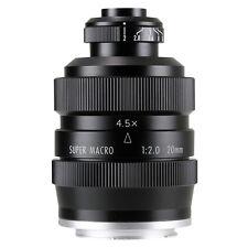 Zhongyi Mitakon 20mm f/2 4.5X Super Macro Lens for Mirrorless Sony Fuji GH OM-D