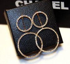 1 Pair earring 2 styles wear/Large Dangling Hoop Earring/Simulated Diamond/E791