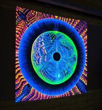 Backdrop Dancing Koan Visionary Art UV Psychedelic Tapestry Psytrance Festival